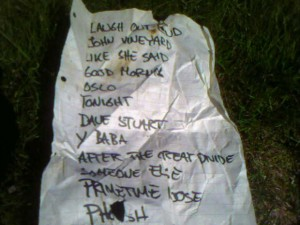 The first setlist